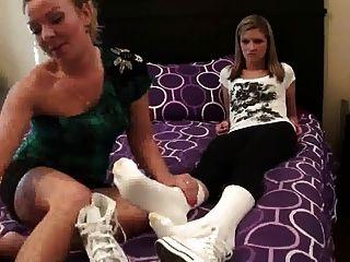 Lesben Socken riechend