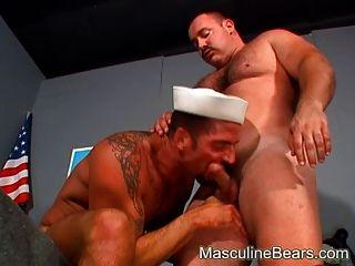 zwei dicke Offiziere brutal Bully ficken