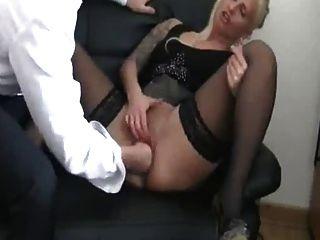 mein Deutsch weibliche Hündin Chef Fisting, bis sie abspritzt