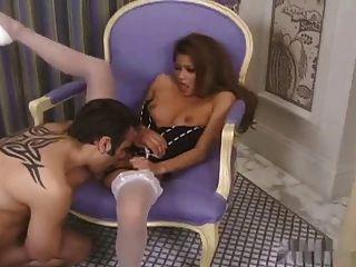 sexy asiatische charmaine Sterne Sex in High Heel & Strümpfe