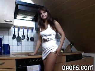 Osteuropa Hausfrau sind rüstig