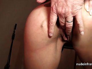 französisch Mutter hart anal gefickt und facialized in 3Weg