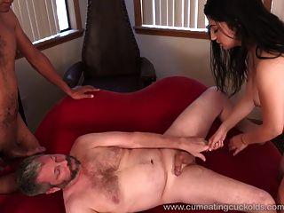 Nadia Ali wird von Hahn schlug und macht Mann cum essen