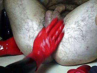 Latex Herrin mehrere anal insertations
