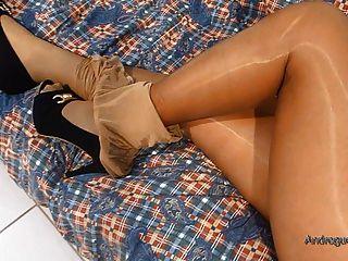 meine Frau glänzend pantyhosed Beine