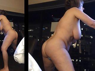 von Marierocks in Hotelfenster masturbiert