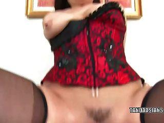 exotische Hottie london keyes bekommt ihre asiatische twat gestopft