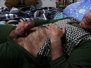 str8 Papa spielen im Bett