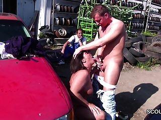 Deutsch Milf Mutter sedcue von Jungen im Freien ficken