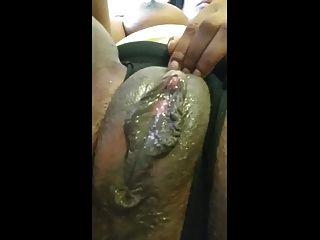 phat schwarz cremige Muschi