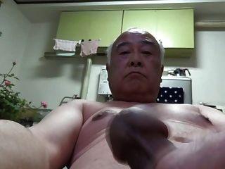 japanisch alter Mann alle nackt Selbst Wichsen