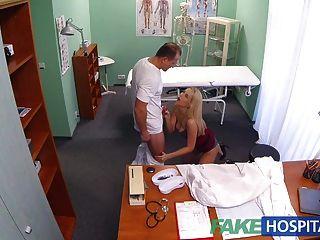 fakehospital neue Krankenschwester nimmt doppelt abspritzen geil aus dr