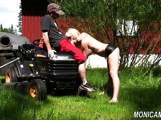 monicamilf fickt den Gärtner - norsk porno