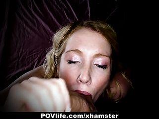povlife - geile Blondine wird in den Arsch auf Kamera gefickt!