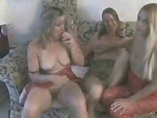 Sexy Mature in Lederjacke Idioten