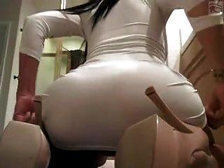 Culona Con Vestido Blanco Liebeaktcom