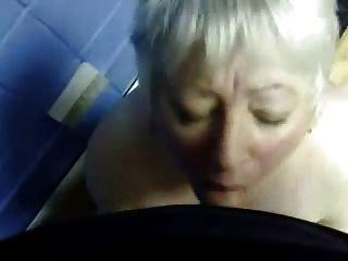 Cumming im Mund meiner reifen Frau