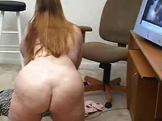 bbw vor der Webcam