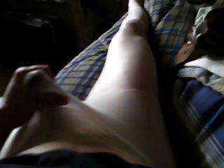 billige weiße Strumpfhose, kurzes Sperma-Video.