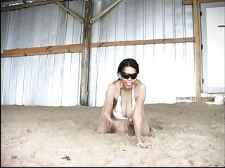 Strand große Brüste