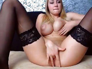 busty blonde babe webcam