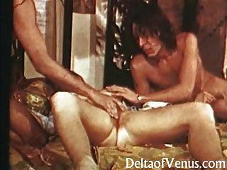 petite behaarte Pussy Vintage Teen wird gefickt 1970er Erotik