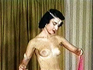 exotischer Tanz der seidenen Schals Vintage schlanke Tease