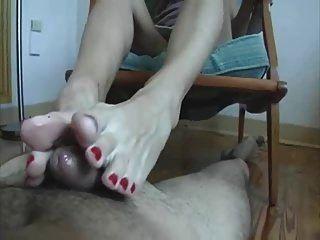 mein Schwanz liebt ihre Milf Zehen! footjob shoejob
