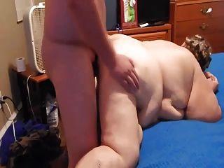 fettige Frau hat harten Sex