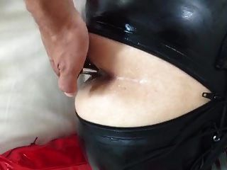 topbiche robebut xxl in arsch, latex catsuit ... buttplug