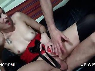 brunette francaise sodomisee et prize en double penetrations