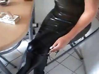 Heißes Leder gekleidet Rauchen Babes Kompilation