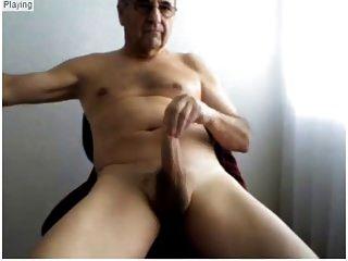 ältere Männer zeigen seine sexy Körper und schönen harten Schwanz