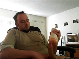 Str8 Männer beobachten Porno und Ruck mit Fleshlight ll