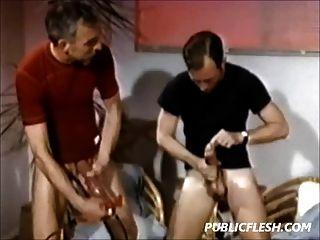 Retro Homosexuell Penis Pumpen