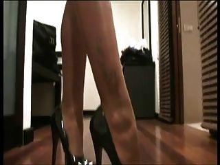 lgh   18cm high heels und nurdie strumpfhose