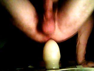 grob öffnete meinen Arsch mit riesigem Buttplug