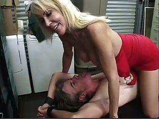 Strumpfhose Bondage Post Ejakulation Folter!