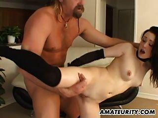 Amateur Teen Freundin interracial gangbang mit anal