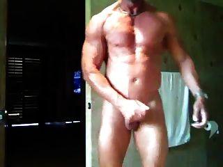 Str8 Kerl Schlaganfall \u0026 Sperma im Bad