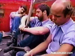 Retro Homosexuelles Gefängnis hardcore