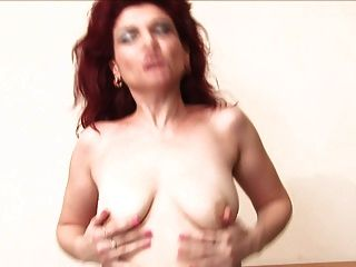 sexy Redhead Oma Janna
