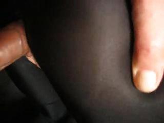 in schwarzer leggings von hinten gefickt