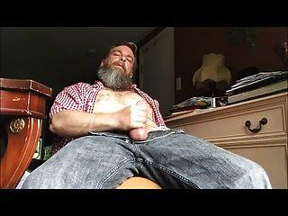 Str8 Bär Daddy Schlaganfall in seinem Zimmer