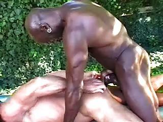 un masaje al aire libre