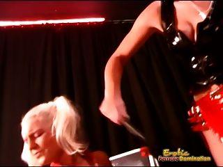 zwei dominatrixes bieten schmerz und vergnügen für junge pärchen