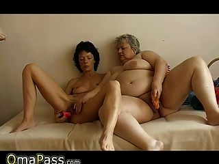 Omapass Skinny reifen Ficken mit lesbischen molligen Oma