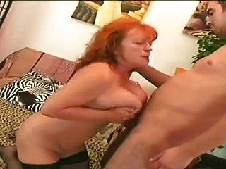 redhead granny slut eva saugen und ficken