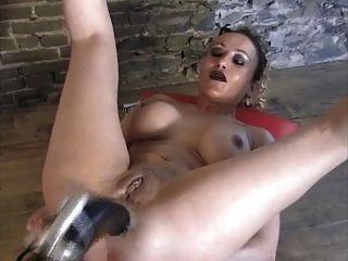 extreme Maschine anal gape riesigen Dildo