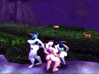 mollige Elfen tanzen